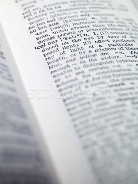 открытых словарь синий колледжей информации белый Сток-фото © gemenacom