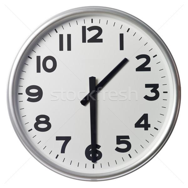 Yarım geçmiş bir saat siyah beyaz Stok fotoğraf © gemenacom