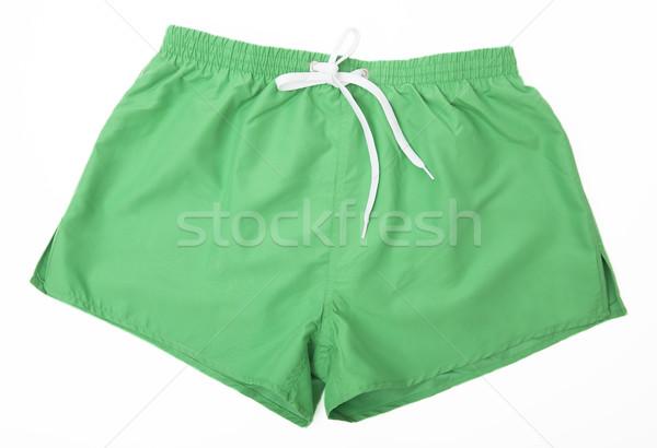 Zöld sport rövidnadrág izolált ruházat fotózás Stock fotó © gemenacom