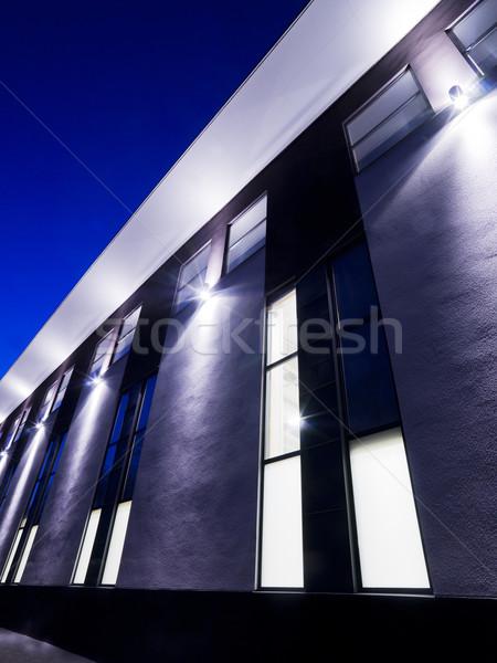 современное здание ночь здании школы стены синий Сток-фото © gemenacom
