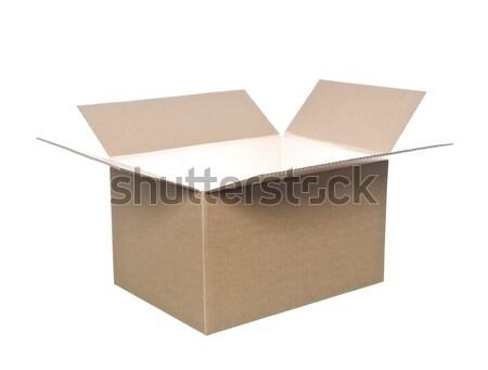 öffnen Karton Feld Paket Container Karton Stock foto © gemenacom
