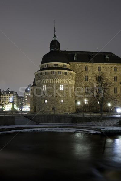Castle at night time Stock photo © gemenacom