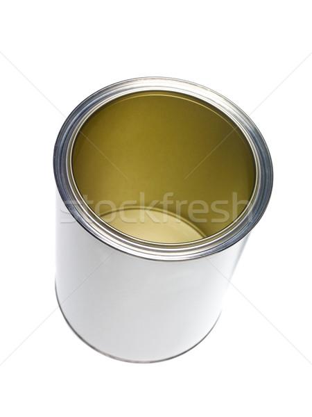 üres festékes flakon izolált fehér folyadék konzerv Stock fotó © gemenacom