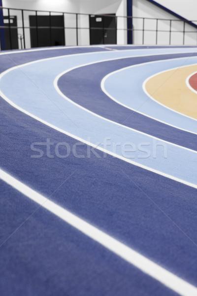 Uruchomiony utwór szczegół lekkoatletyczny arena Zdjęcia stock © gemenacom