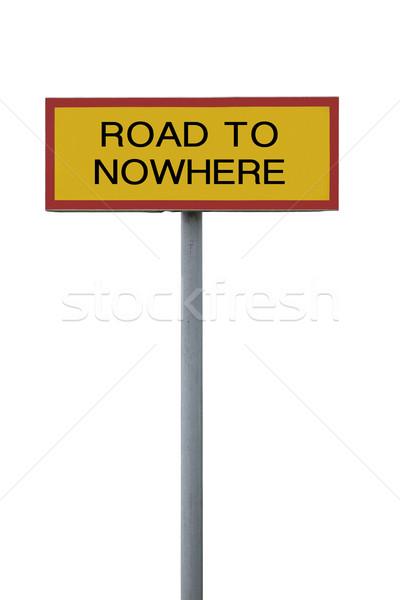 út sehol felirat izolált fehér üzlet Stock fotó © gemenacom