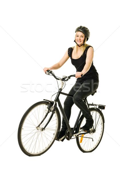 Woman on a bicycle Stock photo © gemenacom