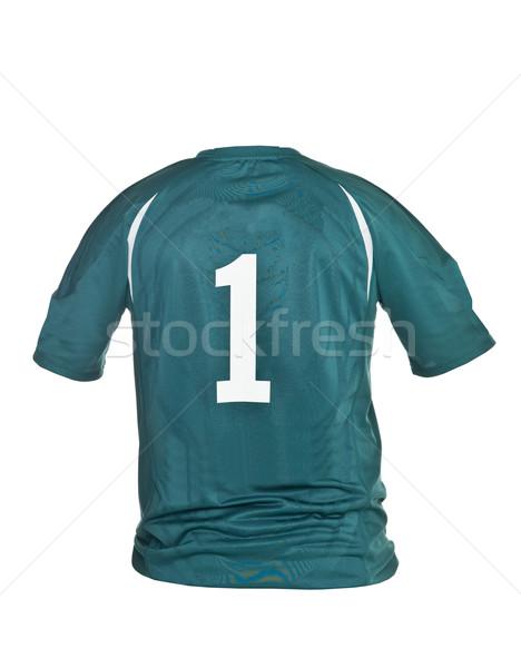 足球 襯衫 第一 孤立 白 體育 商業照片 © gemenacom