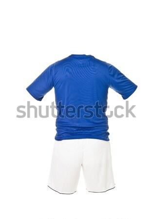 Blue football shirt with white shorts Stock photo © gemenacom