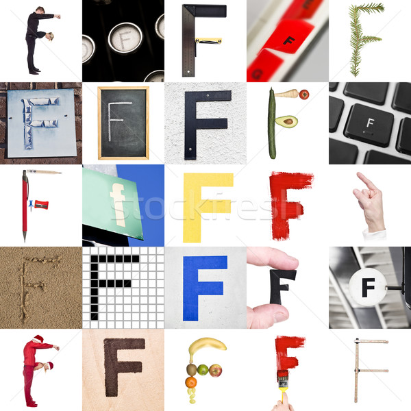Collage of Letter F Stock photo © gemenacom