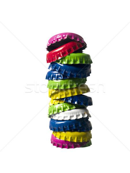 Staple of bottlecaps Stock photo © gemenacom