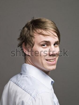 Portré mosolyog férfi mosoly divat férfiak Stock fotó © gemenacom