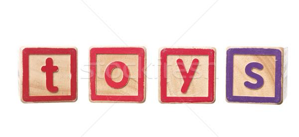 The word toys built by Play Blocks Stock photo © gemenacom