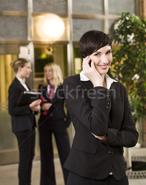 Businesswoman on the phone Stock photo © gemenacom