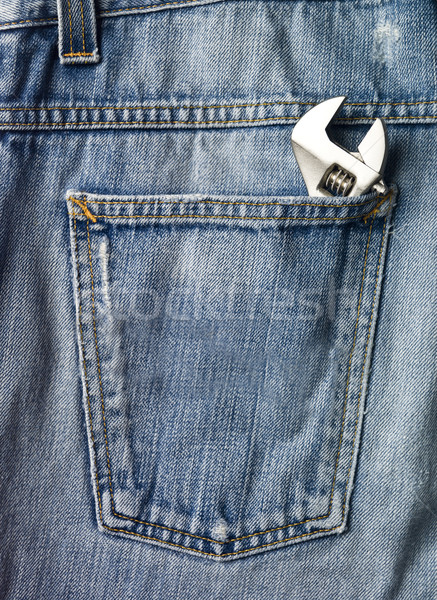 Screwdriver in a jeans pocket Stock photo © gemenacom
