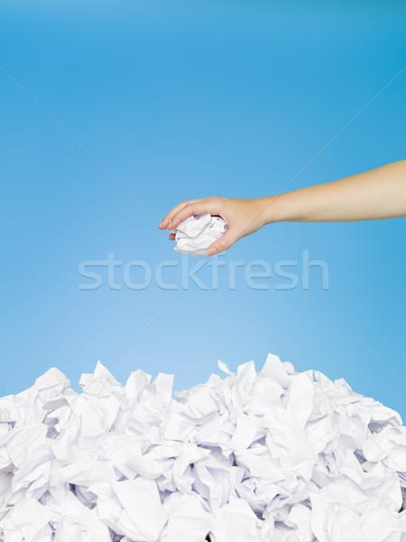 Human trowing a paper Stock photo © gemenacom