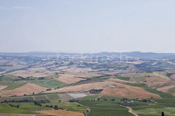 Panorama view casa campo farm Foto d'archivio © gemenacom