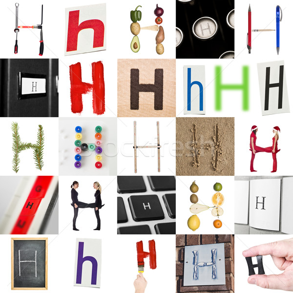 Collage of Letter H Stock photo © gemenacom