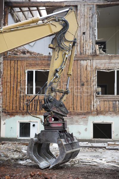 Kotrógép közelkép égbolt város építkezés építészet Stock fotó © gemenacom