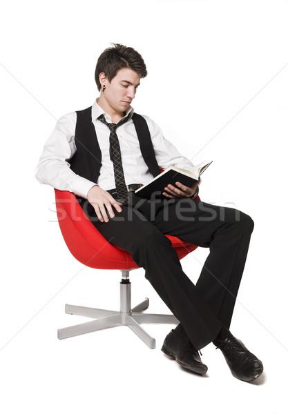 Man reading a book Stock photo © gemenacom