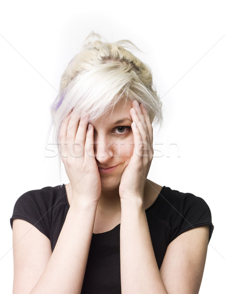 Woman peeping Stock photo © gemenacom