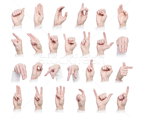 The Alphabet formed by sign language Stock photo © gemenacom