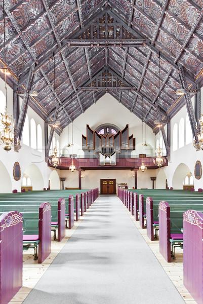 Церкви интерьер избирательный подход окна архитектура Сток-фото © gemenacom