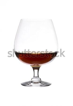 стекла бренди белый алкоголя Франция белом фоне Сток-фото © gemenacom