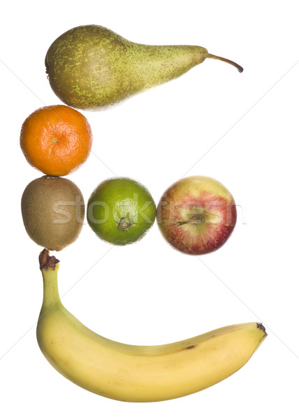 The letter 'E' made out of fruit Stock photo © gemenacom