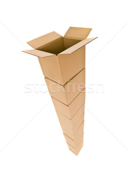Tower of Cardboard Boxes Stock photo © gemenacom