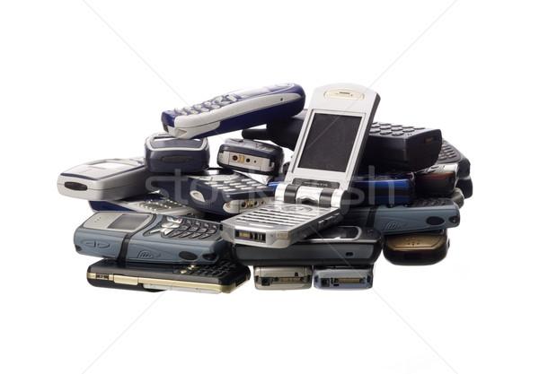 Stack of cellphones Stock photo © gemenacom