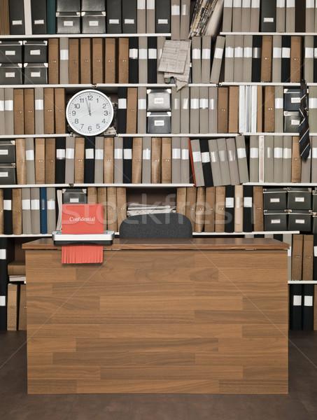 Gizli imha malzeme ofis saat tablo Stok fotoğraf © gemenacom