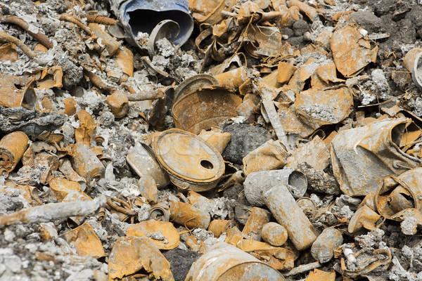 Rusty metal garbage Stock photo © gemenacom