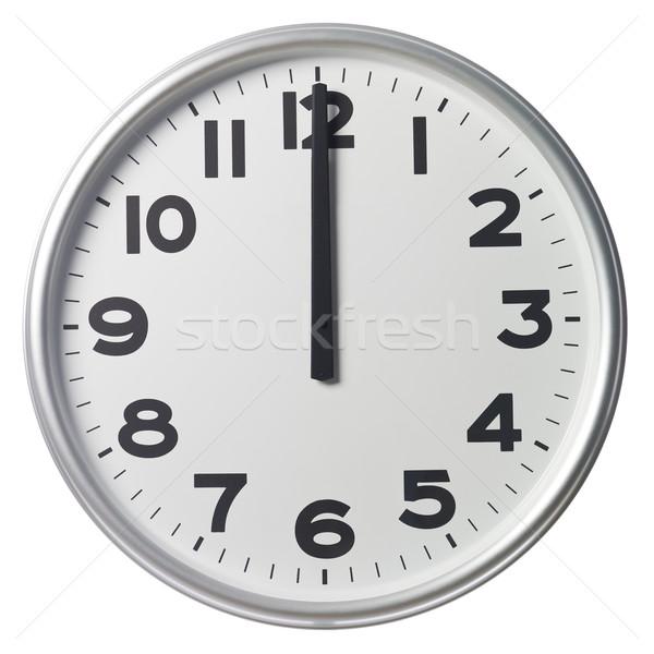 Doze relógio preto branco ninguém vertical Foto stock © gemenacom