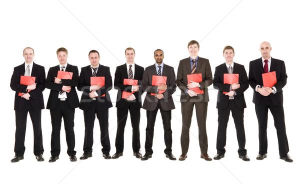 Groep mensen documenten geïsoleerd witte vrienden mannen Stockfoto © gemenacom