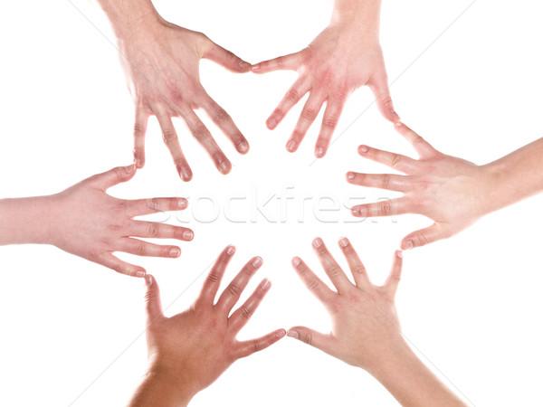 Human hands making a formation Stock photo © gemenacom