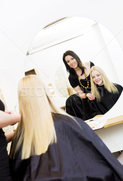 Hairdresser and customer Stock photo © gemenacom