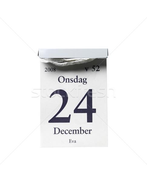 24 grudzień biały studio christmas białe tło Zdjęcia stock © gemenacom