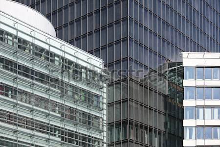 Pénzügyi negyed full frame üzlet város ablak pénzügy Stock fotó © gemenacom