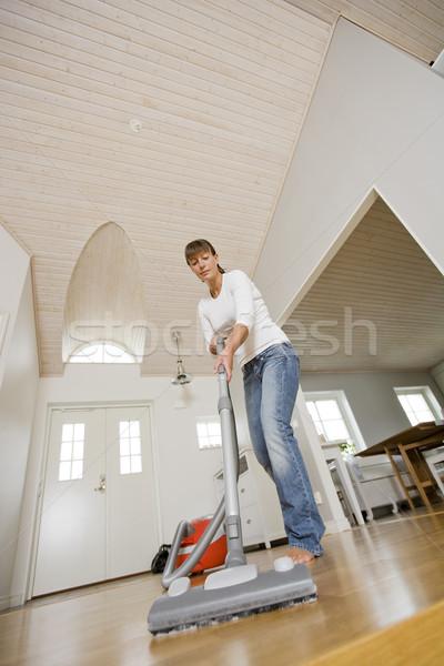 вакуум уборщица очистки дома пылесос женщины Сток-фото © gemenacom