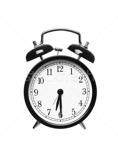 Metà passato sei sveglia isolato bianco Foto d'archivio © gemenacom