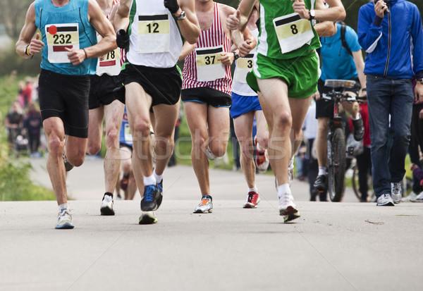 Marathon lopers snelheid energie succes evenement Stockfoto © gemenacom