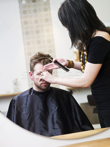 Kapsalon situatie man ontwerp mannen werken Stockfoto © gemenacom