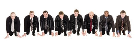 Businessmen in start position Stock photo © gemenacom