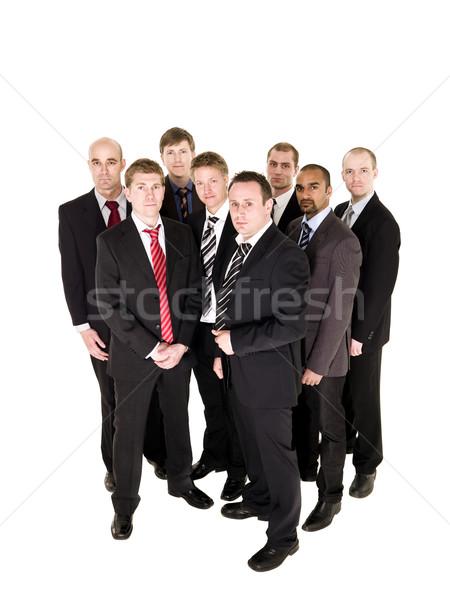 Tahta yalıtılmış beyaz iş işadamı erkekler Stok fotoğraf © gemenacom