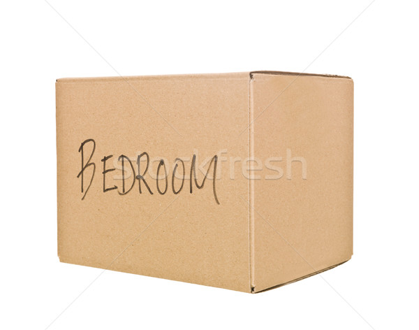 Stock photo: Cardboard Box marked Bedroom