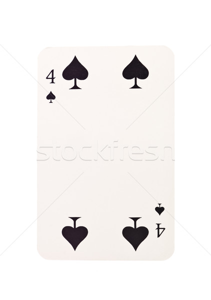 Vier spades geïsoleerd witte zwarte succes Stockfoto © gemenacom