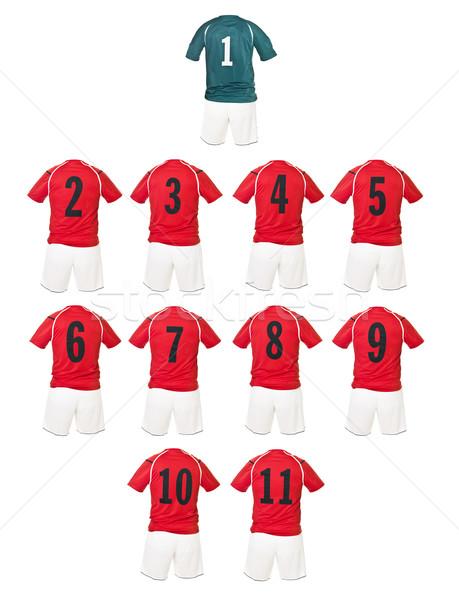 Red Football team shirts Stock photo © gemenacom