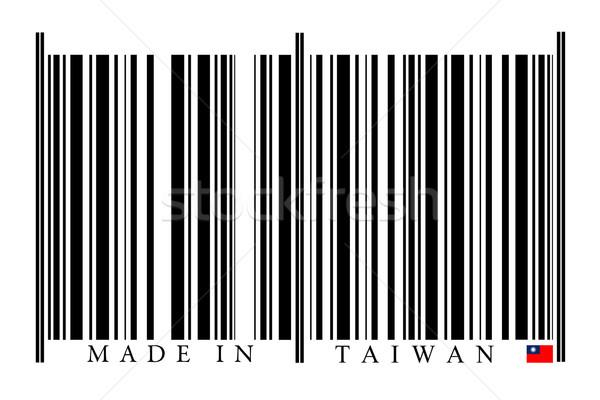 Tayvan barkod beyaz teknoloji siyah pazar Stok fotoğraf © gemenacom