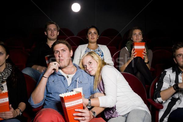Kina film teatr jedzenie popcorn Zdjęcia stock © gemenacom