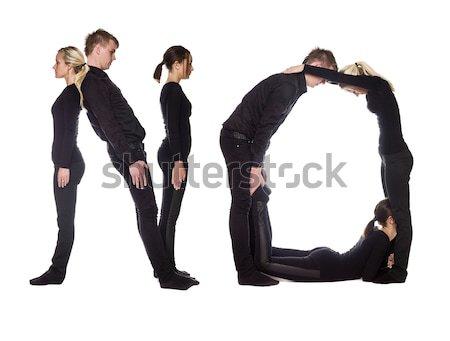 группа людей слово 2010 изолированный белый мужчин Сток-фото © gemenacom